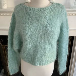 H&M gorgeous soft fuzzy mohair blend boatneck